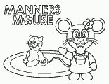 Manners Mouse coloring page