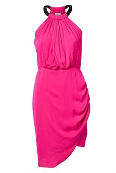 Asymmetric Cocktail Dress in hot pink ($169.95) from Witchery. I love this dress! #witcherywishlist