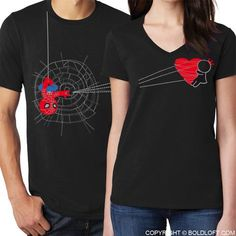 BoldLoft You've Captured My Heart™ His & Hers Matching Couple Shirts Black