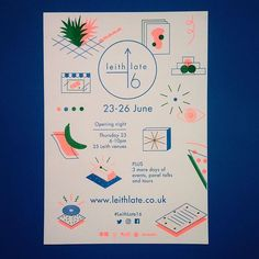 Ultra-cool design by for ☢🔵✅ loving this colour scheme! Print Layout, Layout Design, Type Illustration, Illustrations, Neon Design, Graphic Design Posters, Magazine Design, Brochure Design, Invitation Design