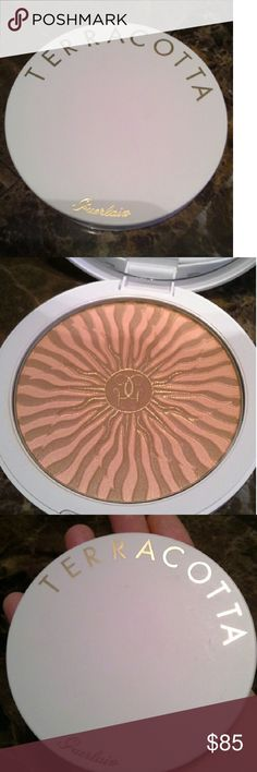 """Guerlain Terra Cotta Bronzer. NWOB Terara D""""Ete limited edition packaging bronzer   Huge pan, see 3rd pic, way bigger than my hand  Gorgeous and sold out within hours of release   No box   Authentic. Guaranteed   Check out my items for more high end beauty brands   Shop with confidence,  top 10 %, 5 star rated seller with over 100 perfect ratings   Daily shipping   No trades   Make me a bundle offer! Reasonable offers accepted on most items unless marked lowest   You're bound to find…"""