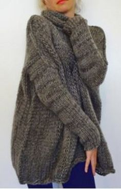 Sweater Love! Stylish Turtle Neck Collar Long Sleeve Loose-Fitting Women's Sweater #Cozy #Sweater #Fashion #Gift #Ideas