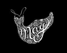 Typographic Art :: May - by Sarah Coleman, Fashion Illustrator