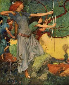 Le Morte d'Arthur (1910/1911) - Art by William Russell Flint