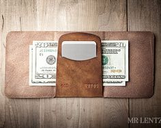 Men's Leather wallet Men's Wallet Leather Wallet by MrLentz