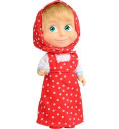 MASHA OG BJØRNEN dukke med kjole Prikket