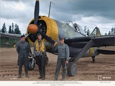 Suomi Brewster 239 with pilot and ground crew. Ww2 Aircraft, Military Aircraft, Fighter Pilot, Fighter Jets, Finland Air, Brewster Buffalo, Finnish Air Force, Ww2 Planes, Luftwaffe