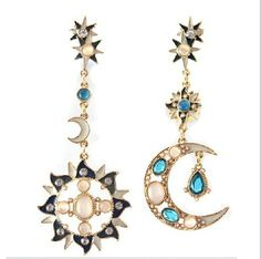 Aliexpress.com : Buy New Accessories 2014 New Fashion Crystal  Moon&Sun  Earrings Jewerly For Women Long Earring Best Gigt  YMEcxt9221 from Reliable jewerly finding suppliers on life Accesorries!