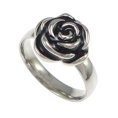 #Stainless #Steel #Finger #Ring, Flower, #design  http://www.beads.us/product/Stainless-Steel-Finger-Ring_p178325.html?Utm_rid=219754
