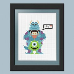 Monsters Inc PDF Pattern by pixelsinstitches