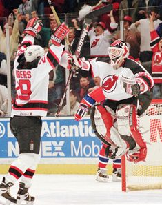 Martin Brodeur scores a goal vs Montreal -- that was a great night to be at the Meadowlands!