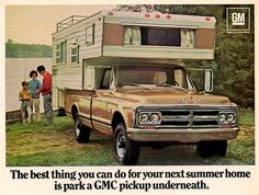 1969 GMC Pickup with camper