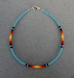 Bl Turquoise Sunburst Anklet,Ankle Bracelet Native Made