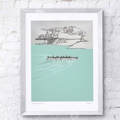 'Appledore Gig' by Rachel Shute Limited edition giclee print #artsiecoast