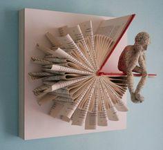Denker auf Sonnenuhr Falte Originalskulptur von Kenjio auf Etsy