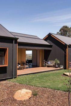 Home Interior Bathroom Stealth Farmhouse Lurie Concepts.Home Interior Bathroom Stealth Farmhouse Lurie Concepts Sustainable Building Design, House Cladding, Steel Cladding, Timber Cladding, Exterior Cladding, Casas Containers, Shed Homes, Tiny Homes, Modern Barn