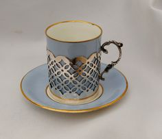 VINTAGE AYNSLEY DEMI TASSE CUP AND SAUCER WITH STERLING SILVER HOLDER 1925 SHEFF   eBay