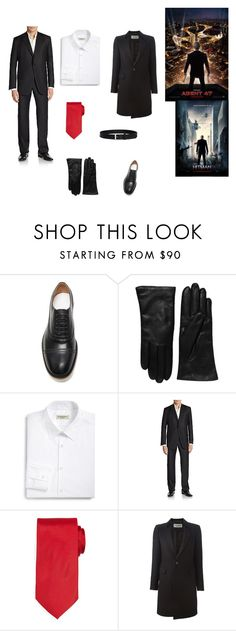 """""""Hitman: Agent 47 Outfit"""" by galaxyoflions ❤ liked on Polyvore featuring Maison Margiela, Saks Fifth Avenue Collection, Burberry, Hickey Freeman, Neiman Marcus, Yves Saint Laurent, Canali, women's clothing, women and female"""