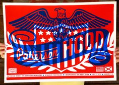 PATTERSON HOOD / Pollies hand-pulled silkscreen printed show poster