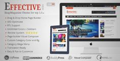 Download and review of Effective News - Responsive WP News Magazine blog, one of the best Themeforest Magazine & Blogs themes