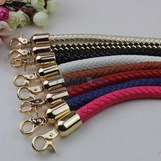 Round Diy Purse Handle Shoulder Bags Belt Handbag Strap Replacement 40 60cm
