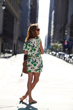 { patterned romper }
