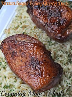 Brown Sugar and Soy Glazed Duck  |  Everyday Mom's Meals