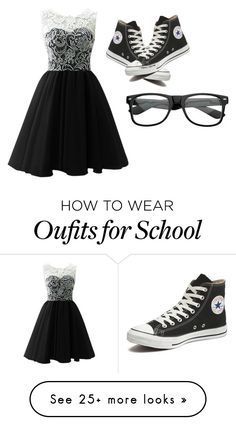 """""""Me in the middle school dance hopefully (insert my crush name) asks me"""" by themysteriousmultifandomgirl on Polyvore featuring Converse, women's clothing, women, female, woman, misses and juniors"""