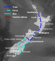 New Zealand train map