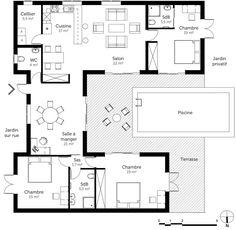 plan de maison 7 chambres