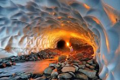 Cave in Alaska, I wanna go looks so neat!