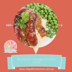 Slowcooker Sausages and Onion Gravy | Stay at Home Mum