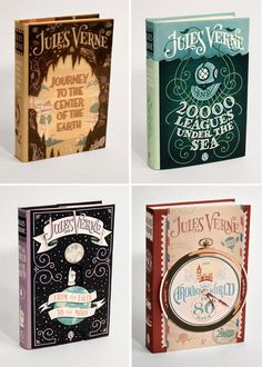 Book cover design inspiration jules verne New ideas I Love Books, Books To Read, My Books, Jules Verne, Book Cover Design, Book Design, Classic Books, Classic Literature, Edward Gorey Books