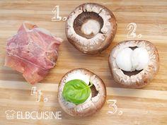 Grillzauber – Ratz-Fatz-Champignons-Überraschungspäckchen #grillen #pilze #champignons #mozzarella #schinken #schnell #einfach #elbcuisine
