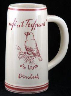 P.B.C. De Vink Billiards Club Cafe,, t Trefpunt Oirsbeek Netherlands Ceramic Beer Stein Mug - The Finch De Vink
