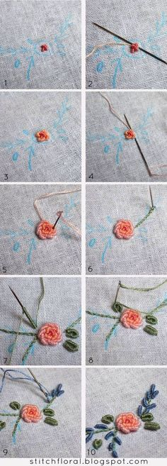 Bullion knot crash course #bullion_stitch #bullion_knot_tutorial #bullion_knot_rose_tutorial