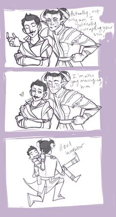 """Dorian and Adaar: """"And you're not invited to the wedding either!"""""""