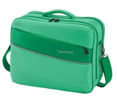 leichte Bordtasche Travelite Kite Grasgrün Schultergurt - Bags & more Nylons, Gras, Laptop, Fashion, Air Travel, Traveling, Taschen, Moda, Fashion Styles