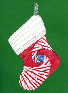 Iris Folding @ CircleOfCrafters.com: Make an Iris Folded Christmas Stocking