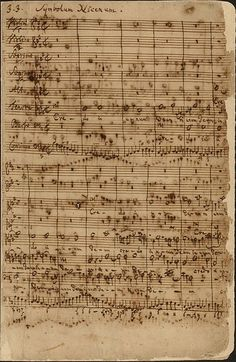 Credo in unum Deum from the Mass in B minor by Johann Sebastian Bach (c. 1749) (original manuscript via commons.wikimedia.org)