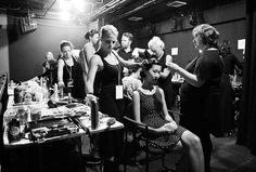 Behind the scenes at the Snowman show at New York Fashion Week