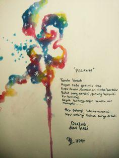"""Pelangi"" inspire by Indonesian Band Dialog DIni Hari #watercolor #artwork #abstract #ink #rainbow #colorfull #tattooflash #dialogdinihari"