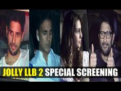 Bollywood celebs at special screening of Akshay Kumar's JOLLY LLB 2 movie.