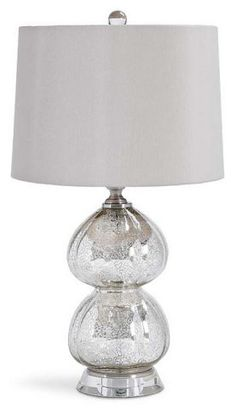 DOUBLE CLOVER LAMP WITH OFF WHITE :: SHADED TABLE LAMPS :: Ceiling lights Toronto, Bath and vanity lighting, Chandelier lighting, Outdoor lighting and kitchen lights :: Union