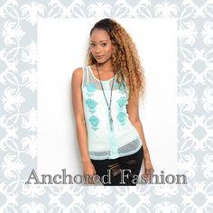 ⚓️Mint Mesh Tank⚓️ Gorgeous mint mesh tank. NWT. 100% polyester. Runs true to size. Tops Tank Tops
