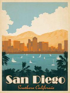 San Diego Travel Poster   Vintage Travel Posters and Vintage Prints