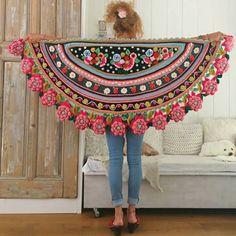 Chal Media Luna Flores a Crochet
