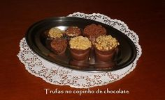 Trufas no copinho de chocolate