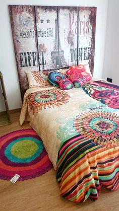 Viste tu cama con las fundas nórdicas de #Desigual y disfruta de sus diseños súper alegres.