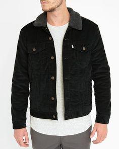 Trucker Jacket Sherpa Velours Noir LEVI'S
